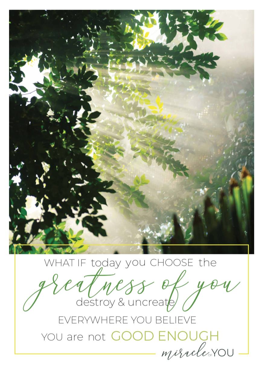 Greatness of you poster